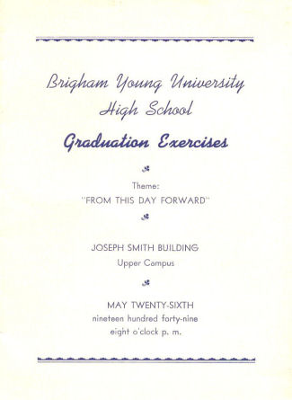 Brigham Young High School Graduation Program Collection - graduation program covers