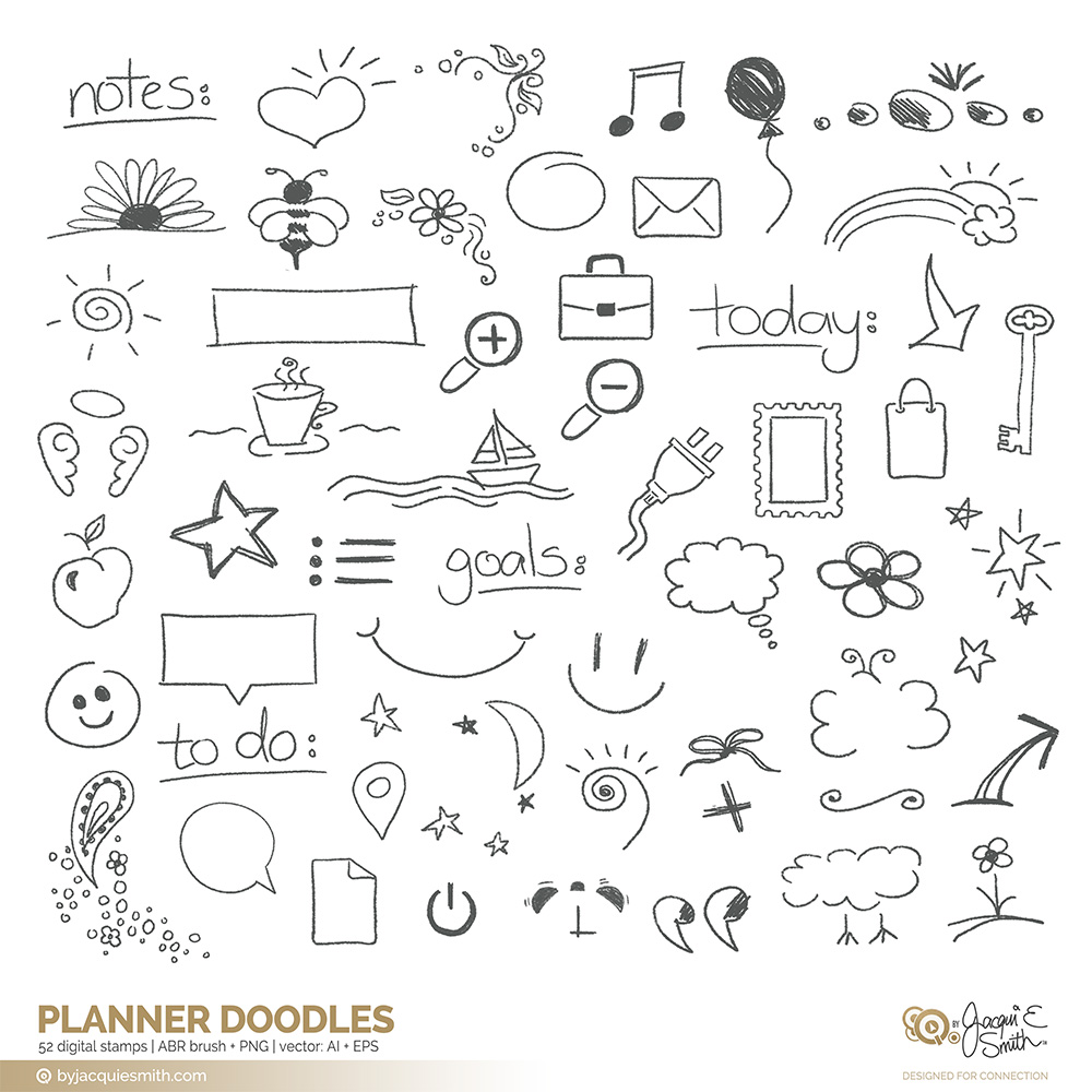 Printable 2014 Calendar Black And White 2014 Printable Calendar 2014 Printable Calendars Planner Doodle Vector Brushes And Overlays