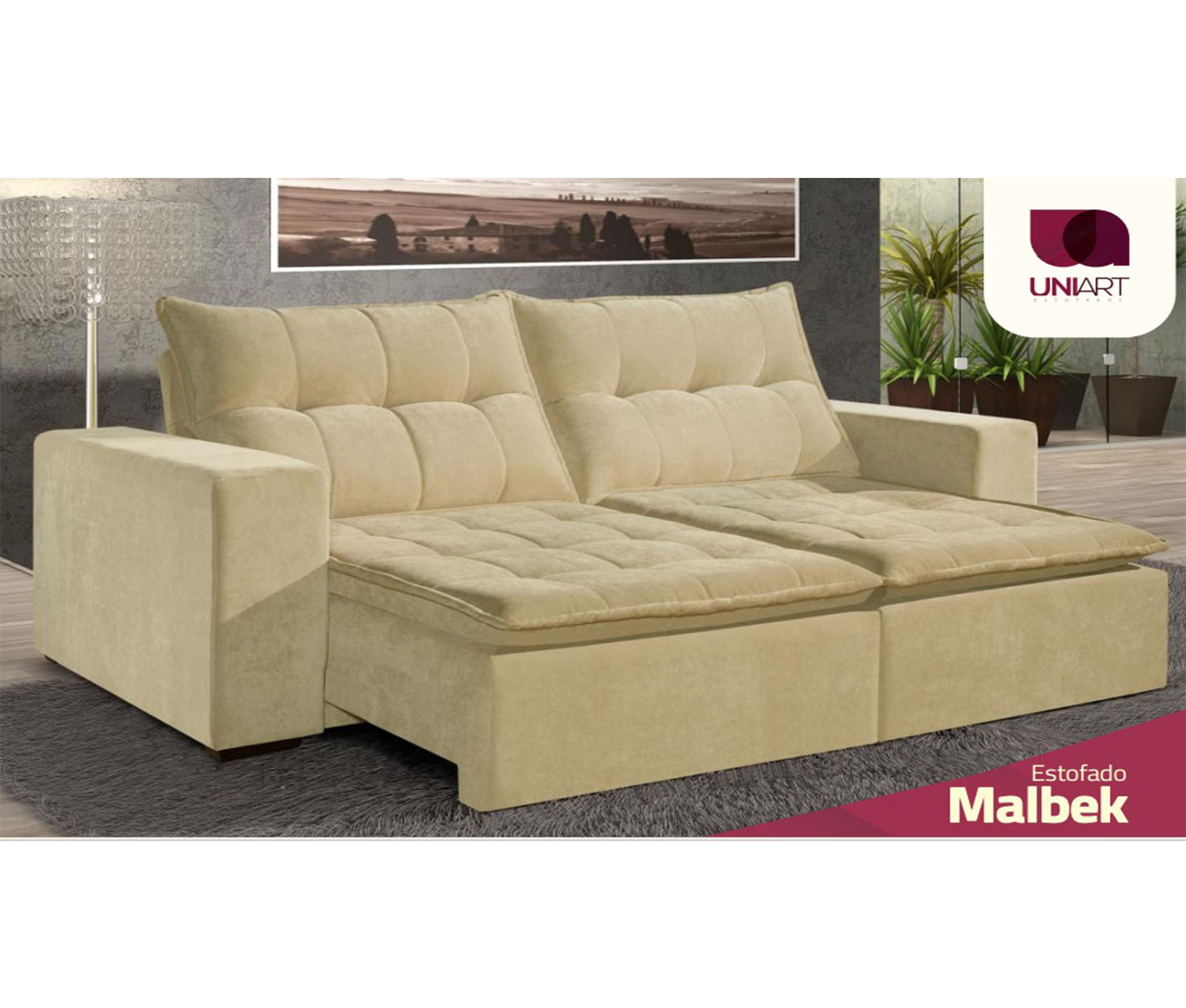 Sofa Retratil Uba Mg Sofa Retratil Reclinavel Malbek 2 30mts Até 2 90mts Uniart Estofados