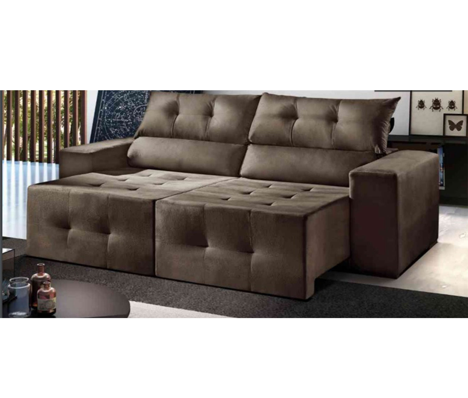 Sofa Retratil Uba Mg Sofa Retratil Reclinavel Atlanta 1 80 Mts Até 2 30 Mts Bymobille