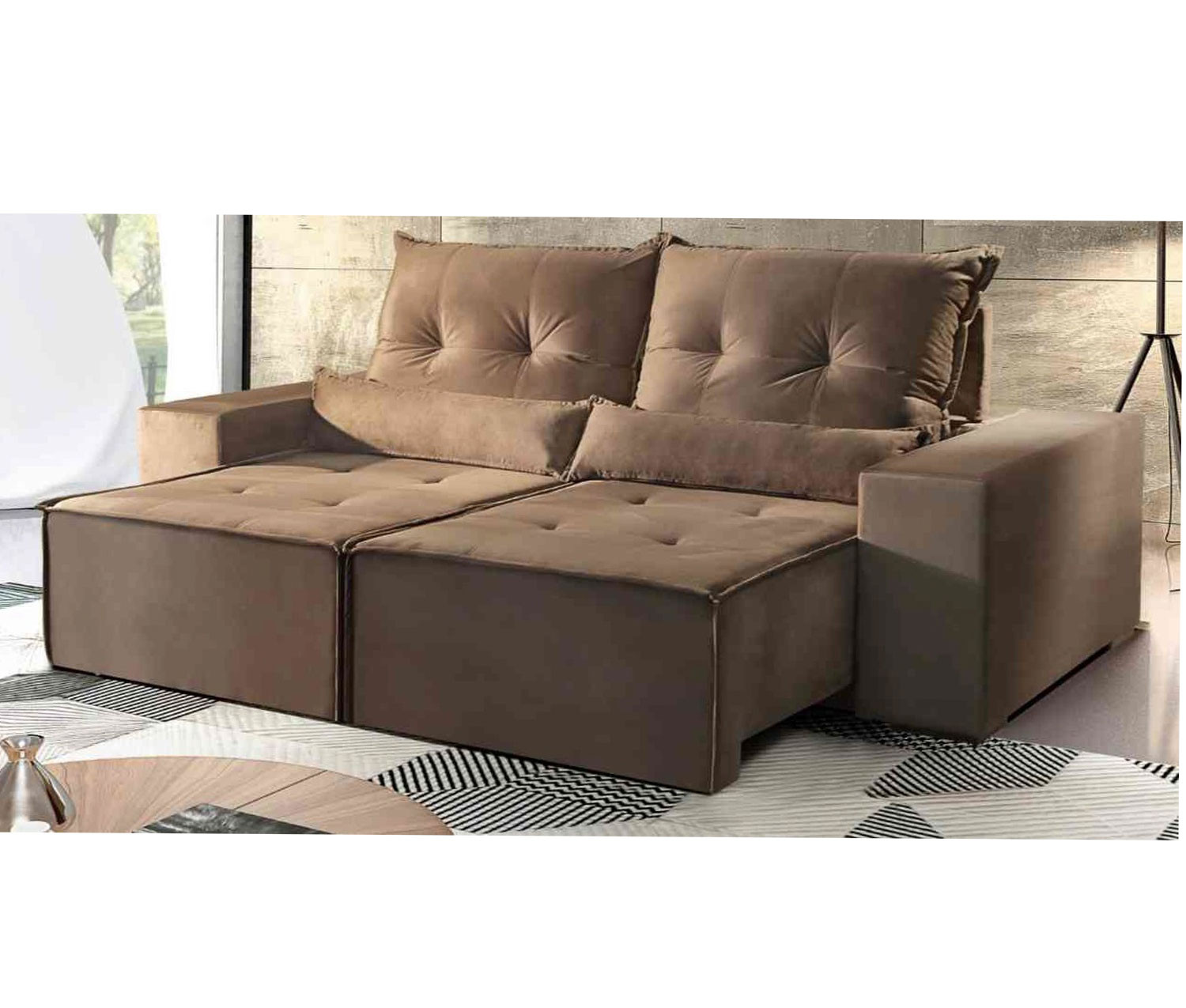 Sofa Retratil Uba Mg Sofa Retratil Reclinavel Belize Suede Castor