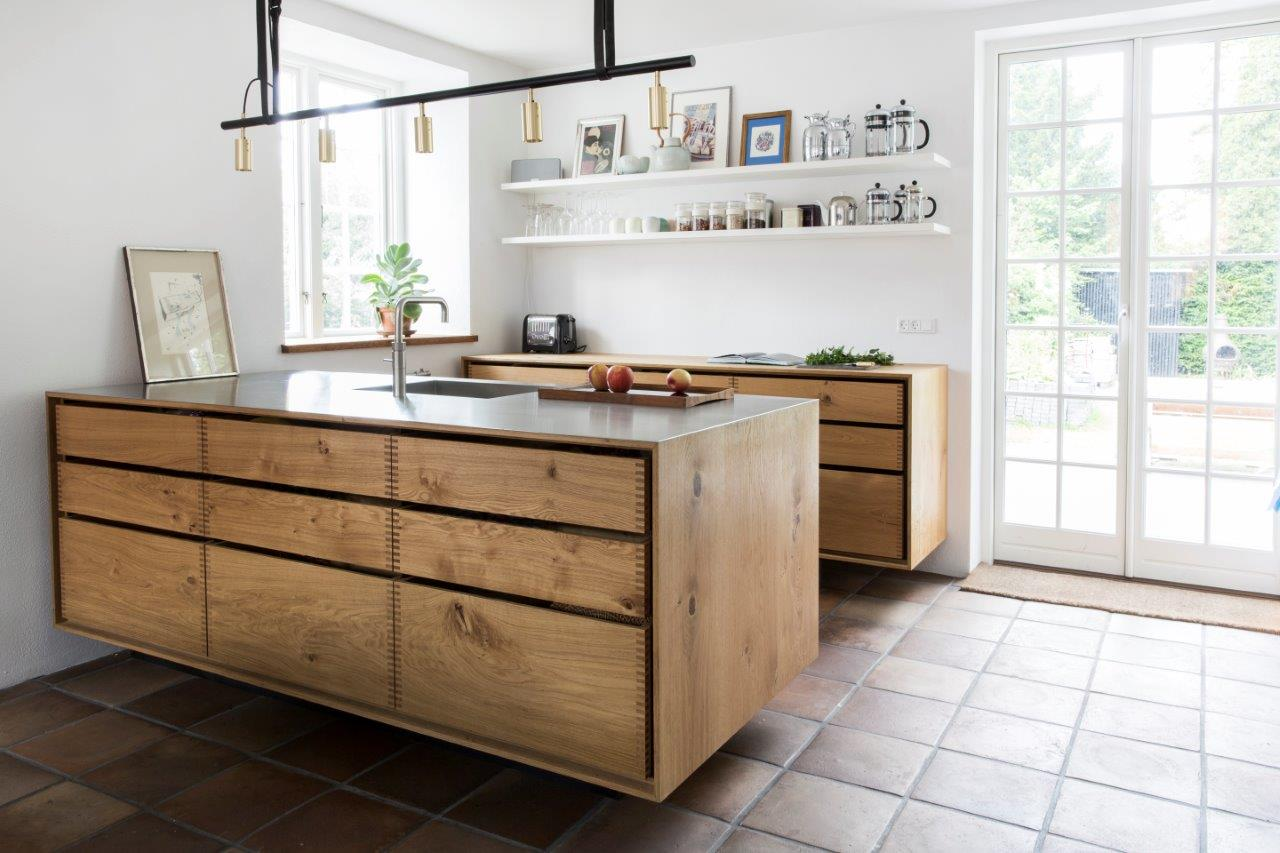 Ikea Hängekommode 39model Dinesen 39 Bespoke Wooden Kitchen With Steel Tabletop