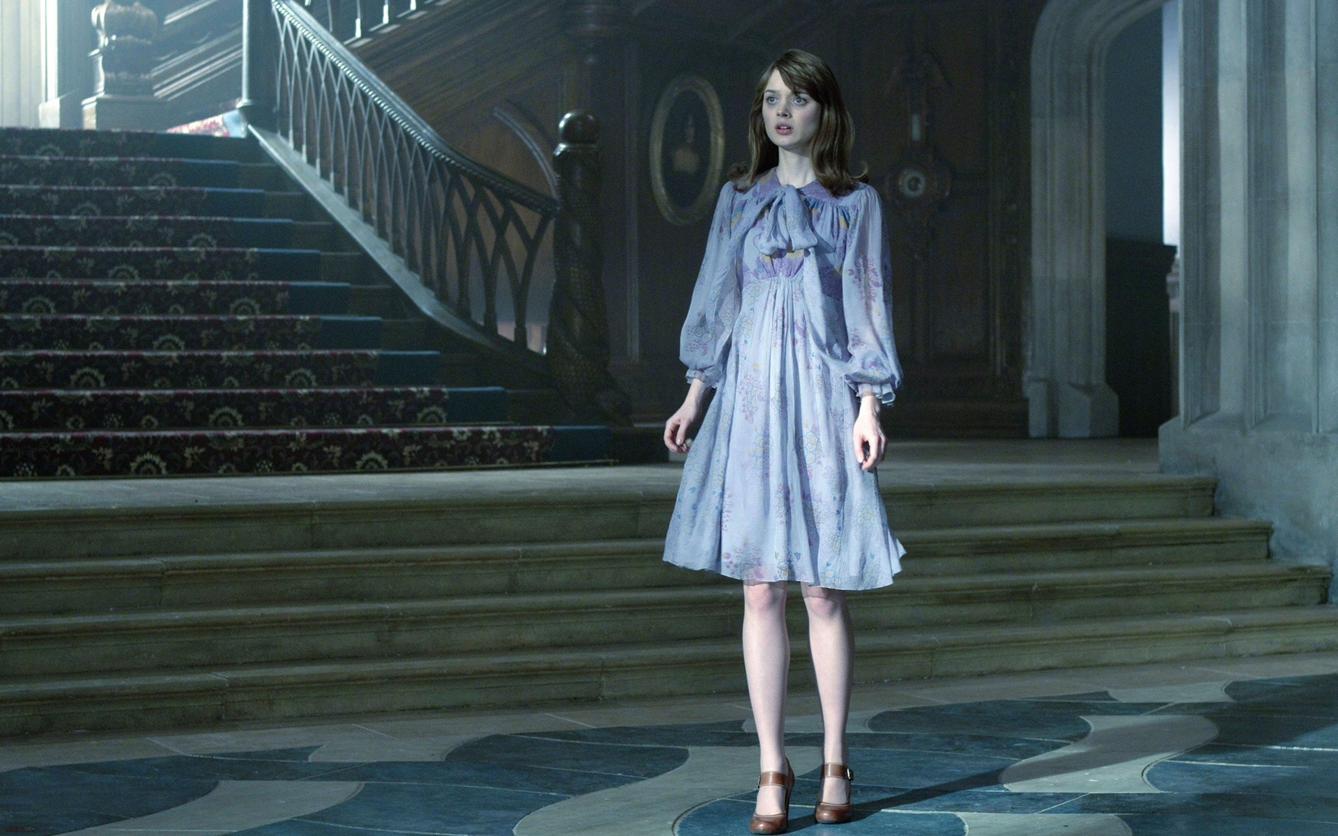 Girl With Wallpaper Dress Dark Shadows Tim Burton Meets Psychedelia Byron S Muse