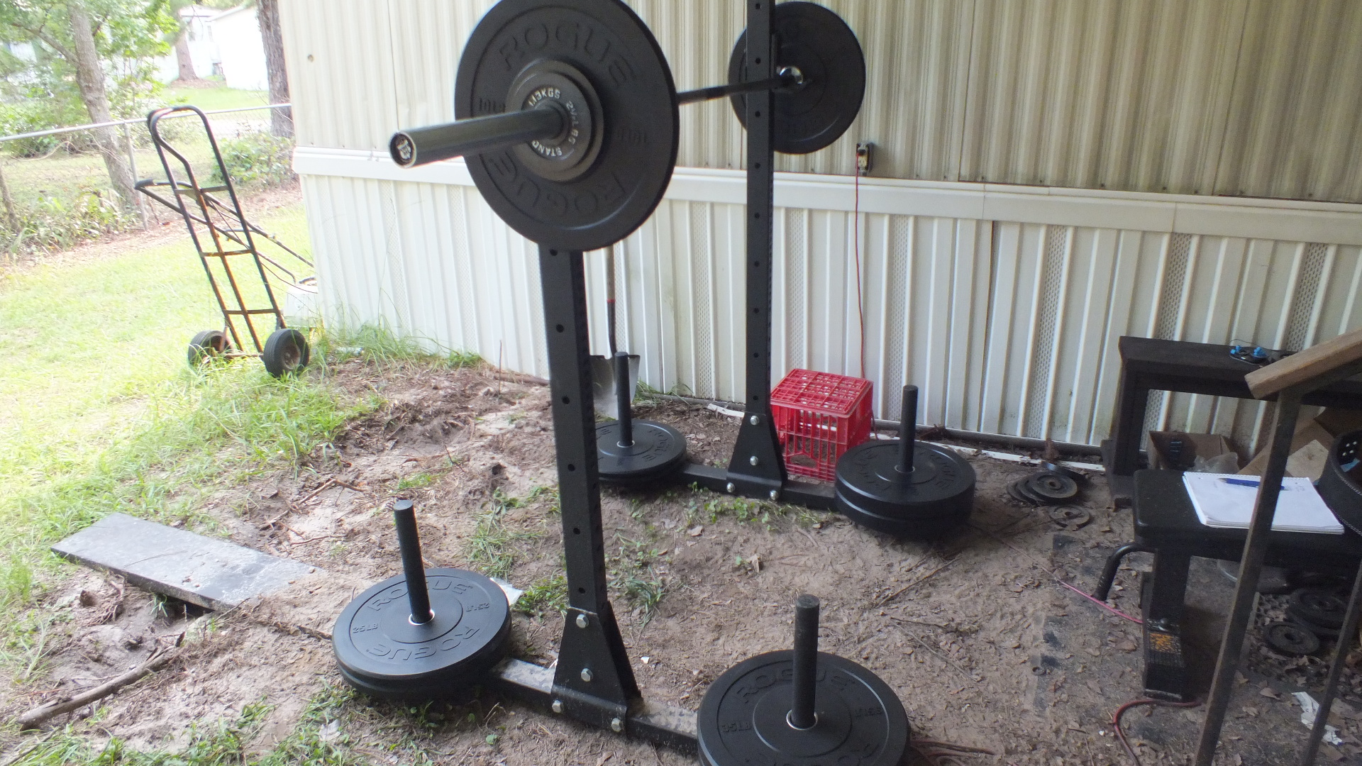 Garage Gym Reviews Titan Review Of Rogue Ohio Power Bar And Echo Bumper Plates By Spear