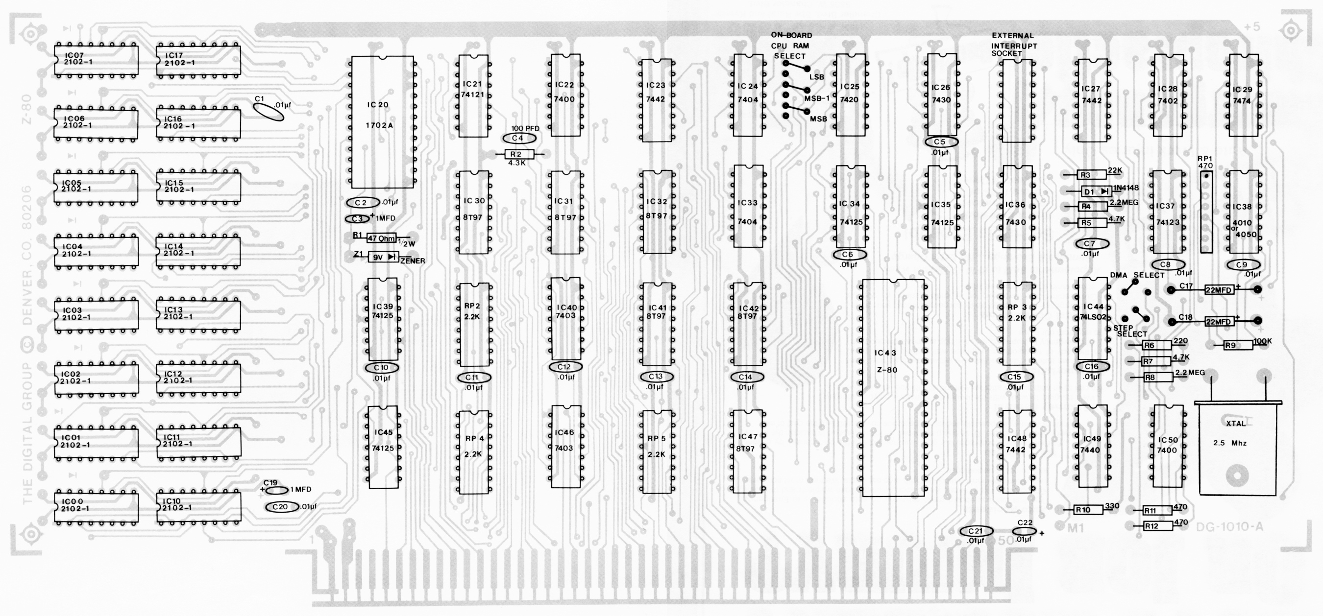 z80 processor schematic