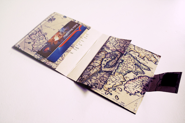diy - map wallet