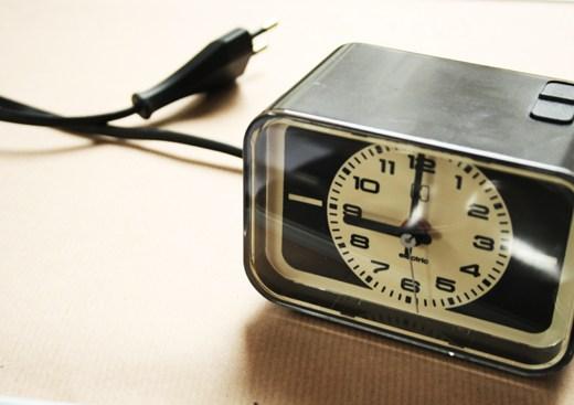 thrift store find alarm clock
