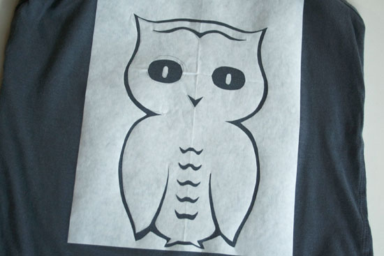 easy owl stencil diy 2