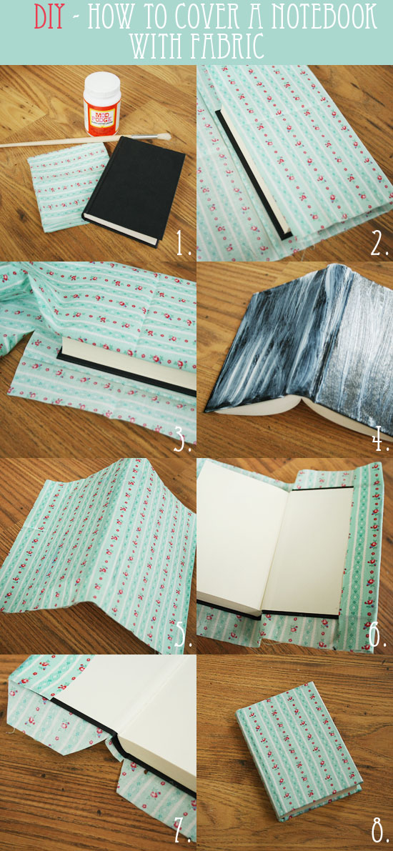 Diy Fabric Book Cover ~ Diy how to cover a notebook with fabric by wilma