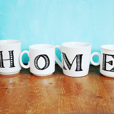 DIY - Anthropologie inspired monogrammed mugs small