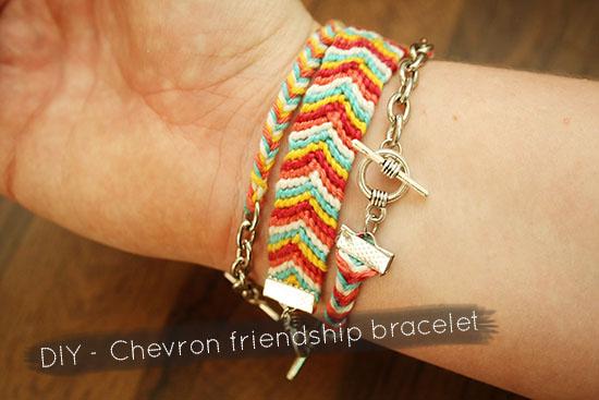 DIY - Chevron friendship bracelet tutorial