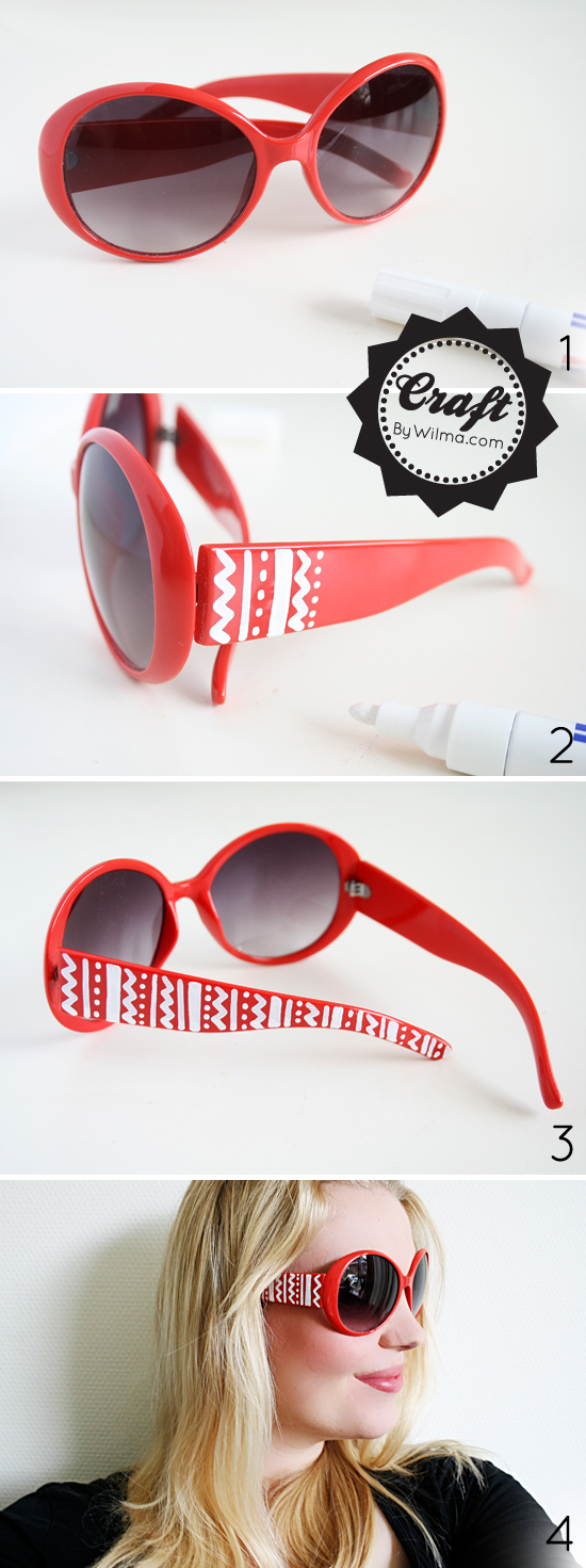 These DIY Aztec print inspired sunglasses are not only really pretty but also very easy and quick to make for everyone! You don't need to be a great DIYer to pull this one off!