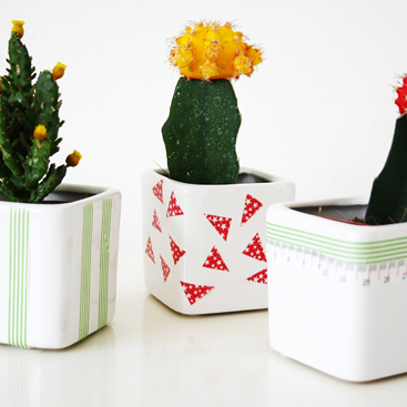Washi tape marathon day 5: DIY cute planters