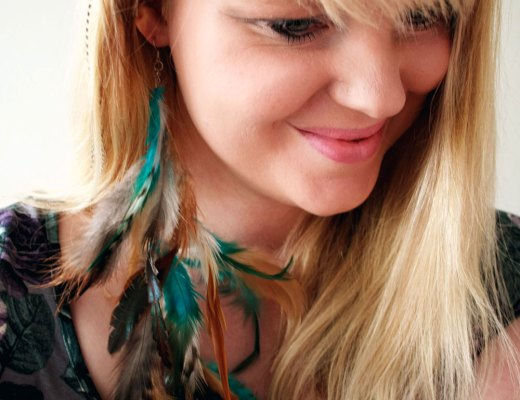 DIY - Long feather earring