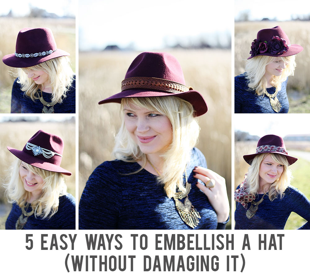 5 easy ways to embellish a hat (without damaging it)