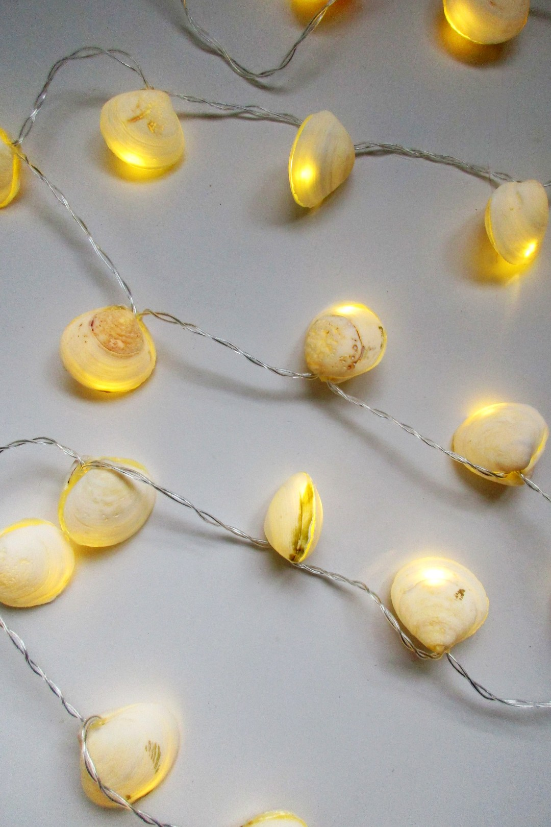 Diy Construction String Lights : DIY SEASHELL STRING LIGHTS LushZone