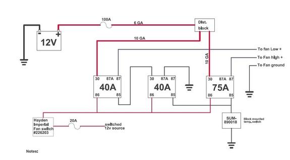 dual speed fan wiring diagram