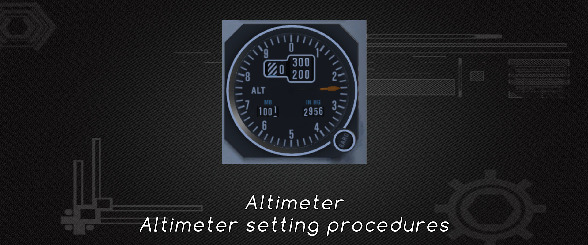 Hg Fly Altimeter And Altimeter Setting Procedures - Learn To Fly