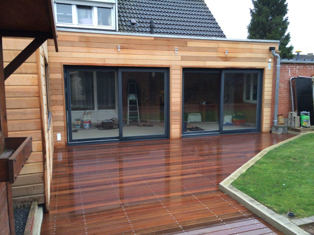 Terrasse Red Cedar Extention Bardage Red Cedar Et Terrasse Sur Plots
