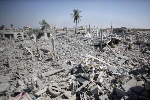 Dans le sud de Gaza, le 1er août.   AP/Khalil Hamra