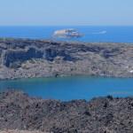 Depuis l'îlot de Nea Kameni, là où a eu lieu la dernière éruption (1950)