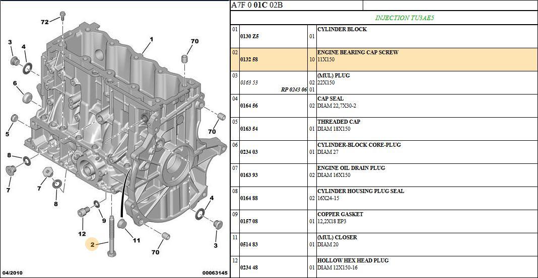 Engine Bearing Diagram Index listing of wiring diagrams