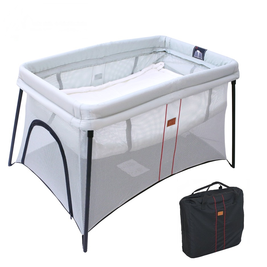 Baby Playpen How Baby Playpen Compact Travel Cot Lightweight Mesh Bassinet Carry Bag