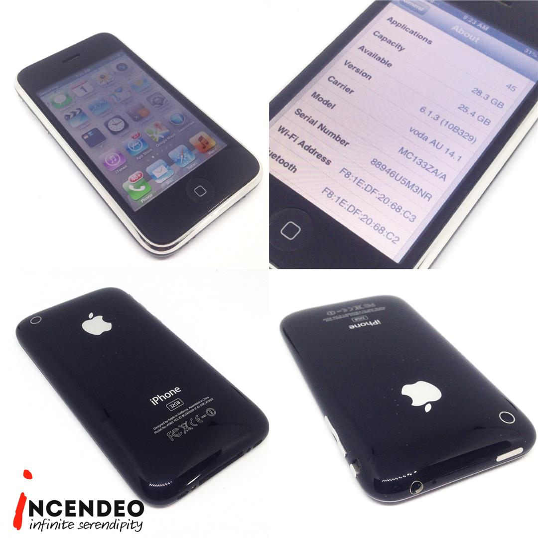 Iphone 3gs Incendeo Apple Iphone 3gs 32gb Black Mobile Phone