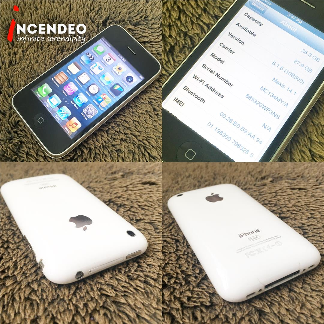 Iphone 3gs Incendeo Apple Iphone 3gs 32gb White A1303