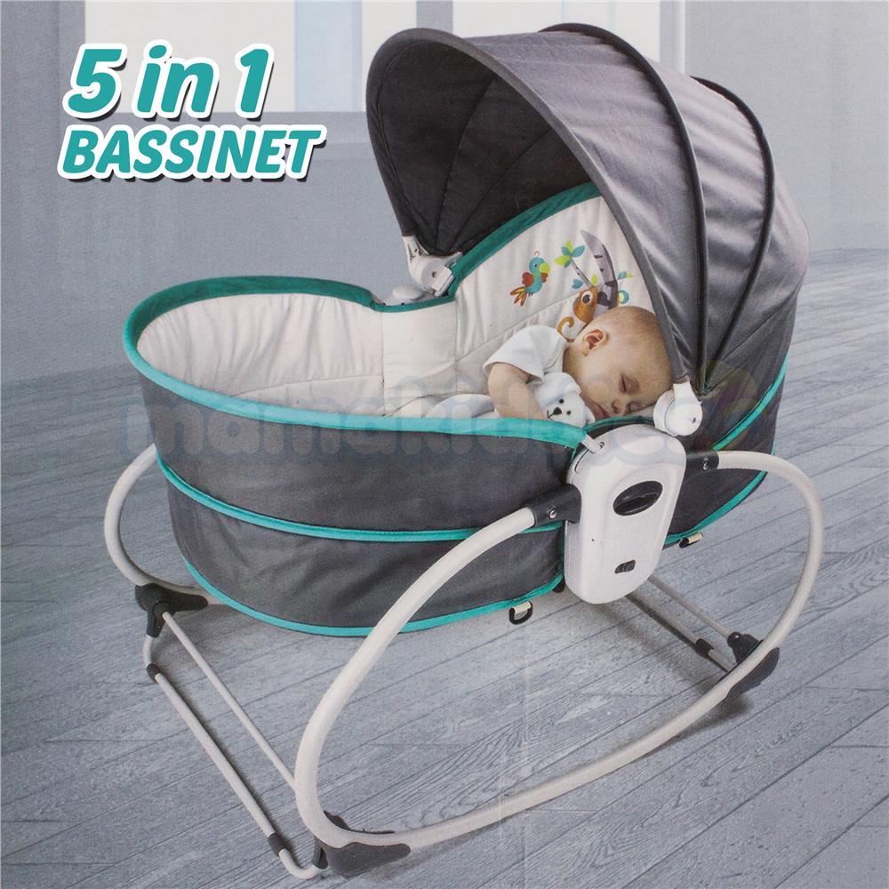 Infant Rocker Carrier Premium 5 In 1 Newborn Baby Rocker Bassinet Bouncer