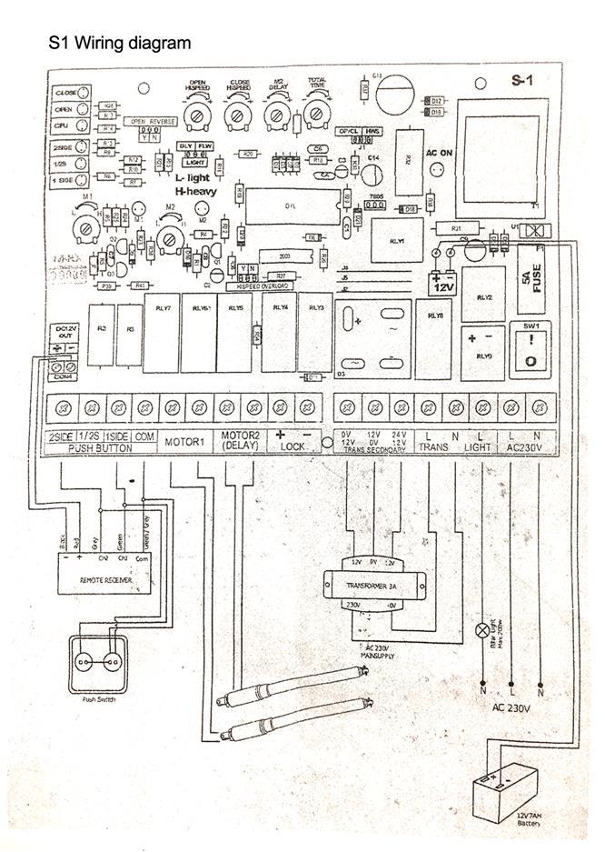 Swing Auto Gate Wiring Diagram - Carbonvotemuditblog \u2022