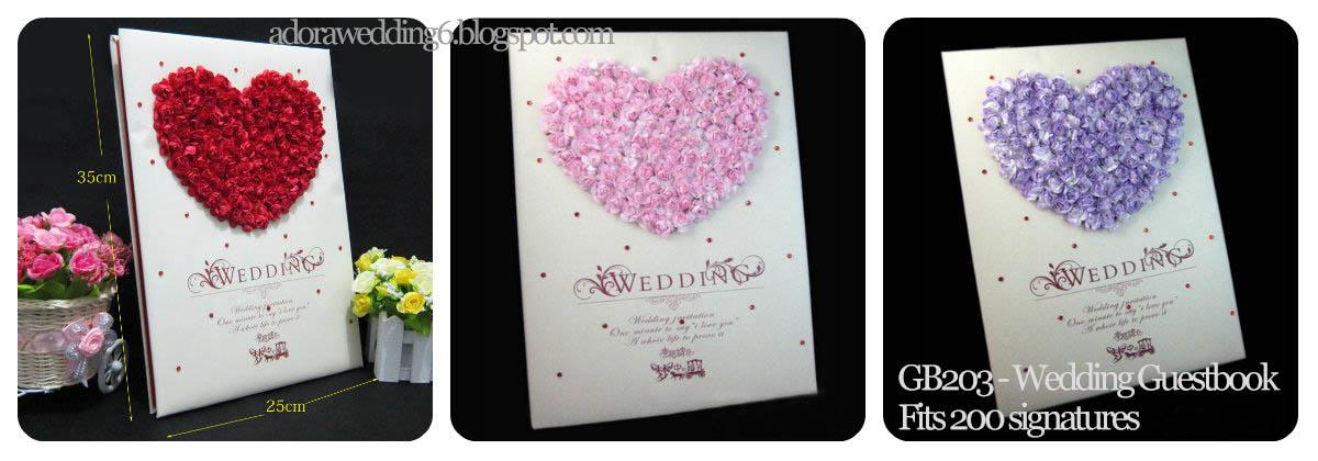 Wedding Guestbook - 3D Roses (end 2/23/2019 1200 AM)