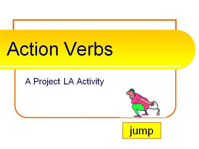 Action VerbsauthorSTREAM - what is an action verb