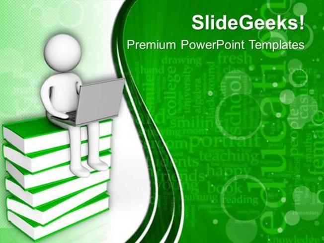 INFORMATION TECHNOLOGY 3D MAN CHANGE IN TECHNOLOGY PPT TEMPLATE