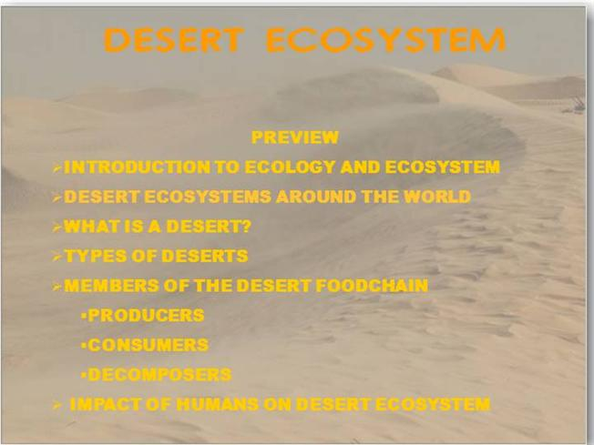Desert EcologyauthorSTREAM