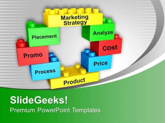 STRATEGY MARKETING STRATEGY ON BUILDING BLOCKS PPT TEMPLATE