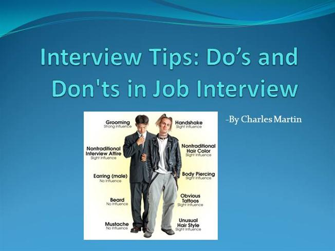Interview Tips Do\u0027s And Don\u0027ts in InterviewauthorSTREAM