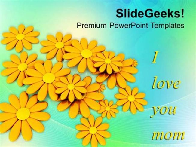 NATURE MESSAGE TO MOM HAPPY MOTHERS DAY PPT TEMPLATE-PowerPoint Template