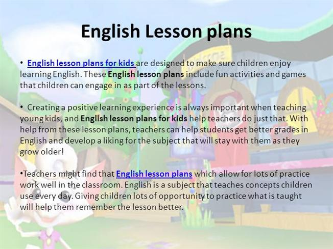 English Lesson PlansauthorSTREAM - what is a lesson plan and why is it important