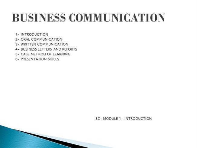 BUSINESS COMMUNICATION in PPTauthorSTREAM - presentation skills ppt