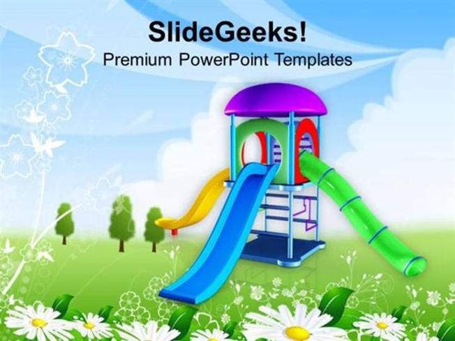 SPORTS GO AND PLAY IN PLAYGROUND THIS SUMMER PPT TEMPLATE - summer powerpoint template