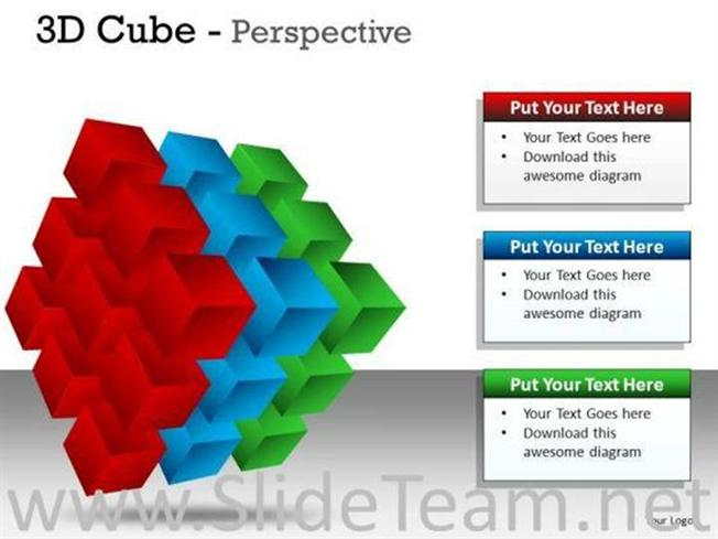 LAYERS 3D CUBE PERSPECTIVE SLIDES AND DIAGRAM TEMPLATE-PowerPoint