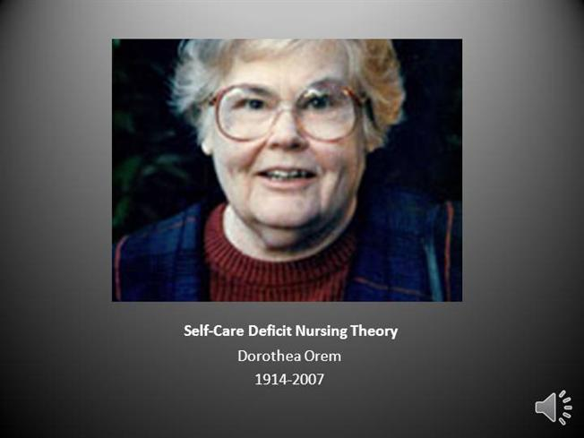 Self-Care Deficit Nursing TheoryauthorSTREAM