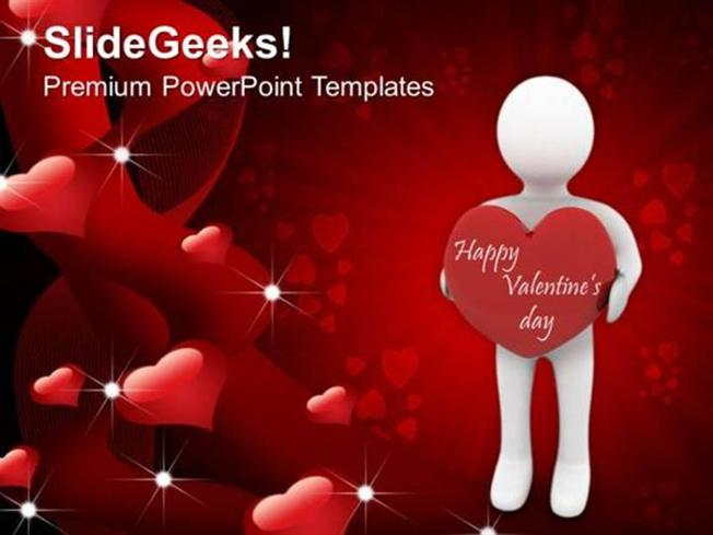 CHRISTIAN MAN WITH A HEART YOUTH VALENTINES DAY YOUTH PPT TEMPLATE