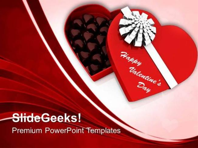 FOOD CHOCOLATES BOX VALENTINES DAY PPT TEMPLATE-PowerPoint Template