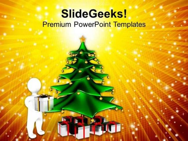 CHURCH CHRISTMAS TREE ABSTRACT BACKGROUND PPT TEMPLATE 1-PowerPoint