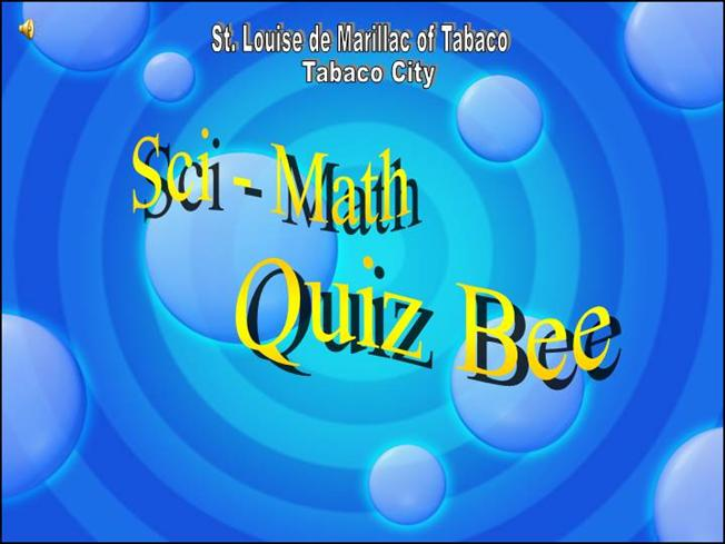 Quiz Bee PresentationauthorSTREAM - online quiz templates