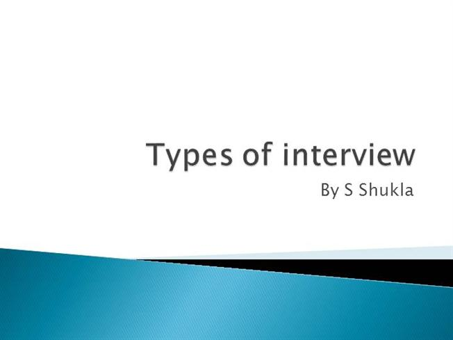 Types of InterviewauthorSTREAM
