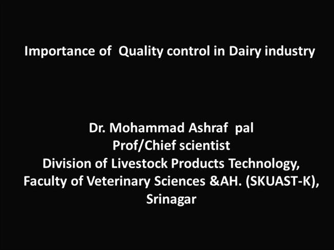 Importance of Quality Control in Dairy IndustryauthorSTREAM