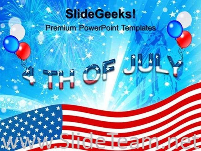 4TH JULY USA INDEPENDENCE DAY POWERPOINT THEME-PowerPoint Template